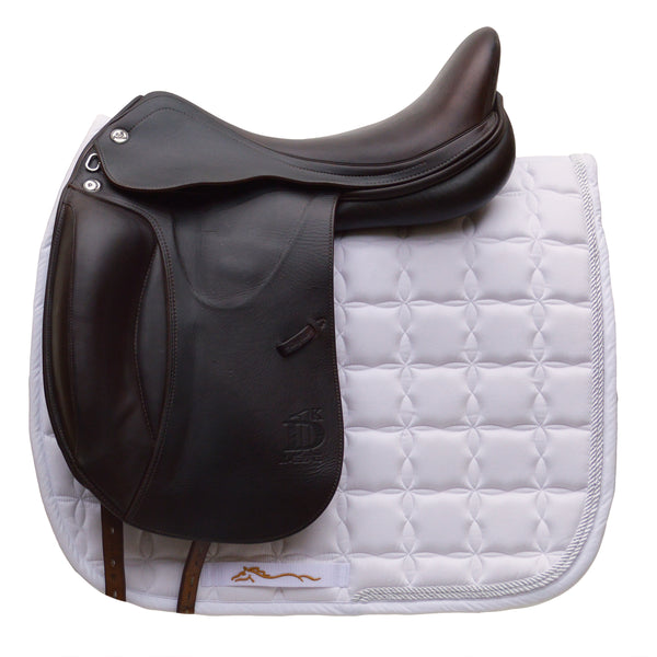 "Prestige X-D1 D K 18"" L Monoflap Calfskin Dressage Saddle (X-Technology), Brown - Buy It Now (SKU143)"