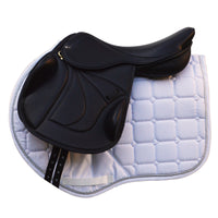 Silhouette Vision monoflap jump saddle 17.5in Black NEW (SKU161) BUY IT NOW