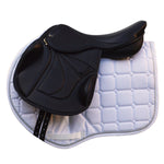 "17.5"" Wide Silhouette Vision monoflap jump saddle, Black NEW (SKU161)"