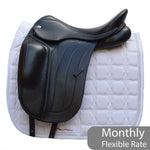 "Fairfax Spencer 17"" Adjustable Gullet Monoflap Dressage Saddle, Black (SKU187)"