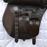 "Kent and Masters 15.5"" MPO Pony Club saddle, Adjustable Gullet - Brown (139)"