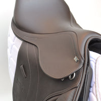 "GFS 16.5"" Monarch Regency-X Jump Saddle, Adjustable Gullet - Brown (SKU157)"