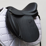 "GFS Monarch 17"" Regency-X Jump Saddle NEW, Adjustable Gullet - Black (SKU158)"