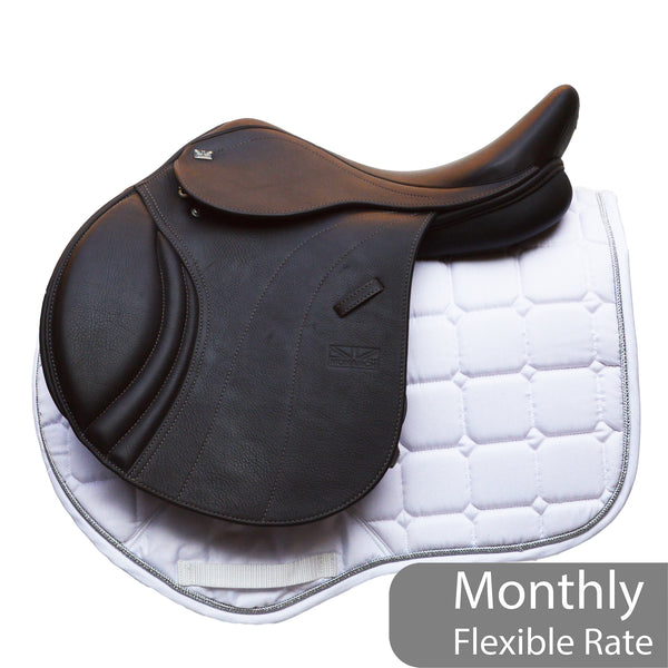 "GFS 16.5"" Monarch Regency-X Jump Saddle, Adjustable Gullet - Brown (157)"