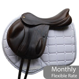 "Fairfax 17.5"" Andrew Hoy Monoflap XC Saddle, Adjustable, Brown (SKU231)"