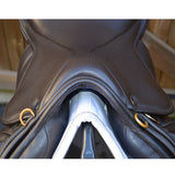 "17"" Wide Silhouette monoflap event / jump Insignia saddle, Brown (SKU131)"