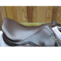 "Silhouette monoflap event / jump Insignia saddle 17"" Medium Wide Brown - Adjustable"