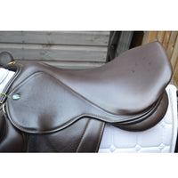 "Silhouette monoflap event / jump Insignia saddle 17"" Medium Wide Brown (127)"