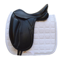"PDS Grande 17.5"" Adjustable Gullet Monoflap Dressage Saddle - Black - Buy it Now (SKU134)"