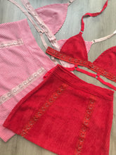 Red Corduroy Set