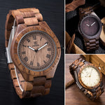 Mens Luxury Watch Casual Bamboo Wood