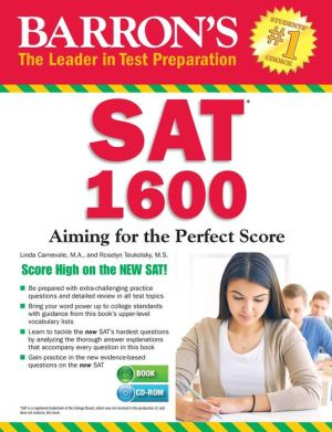 Barron's SAT 1600: Revised for the New SAT [With CDROM]