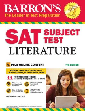 Barron's SAT Subject Test Literature with Online Tests, 7e