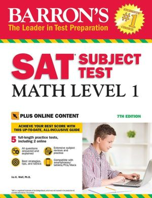 Barron's SAT Subject Test: Math Level 1 with Online Tests, 7e