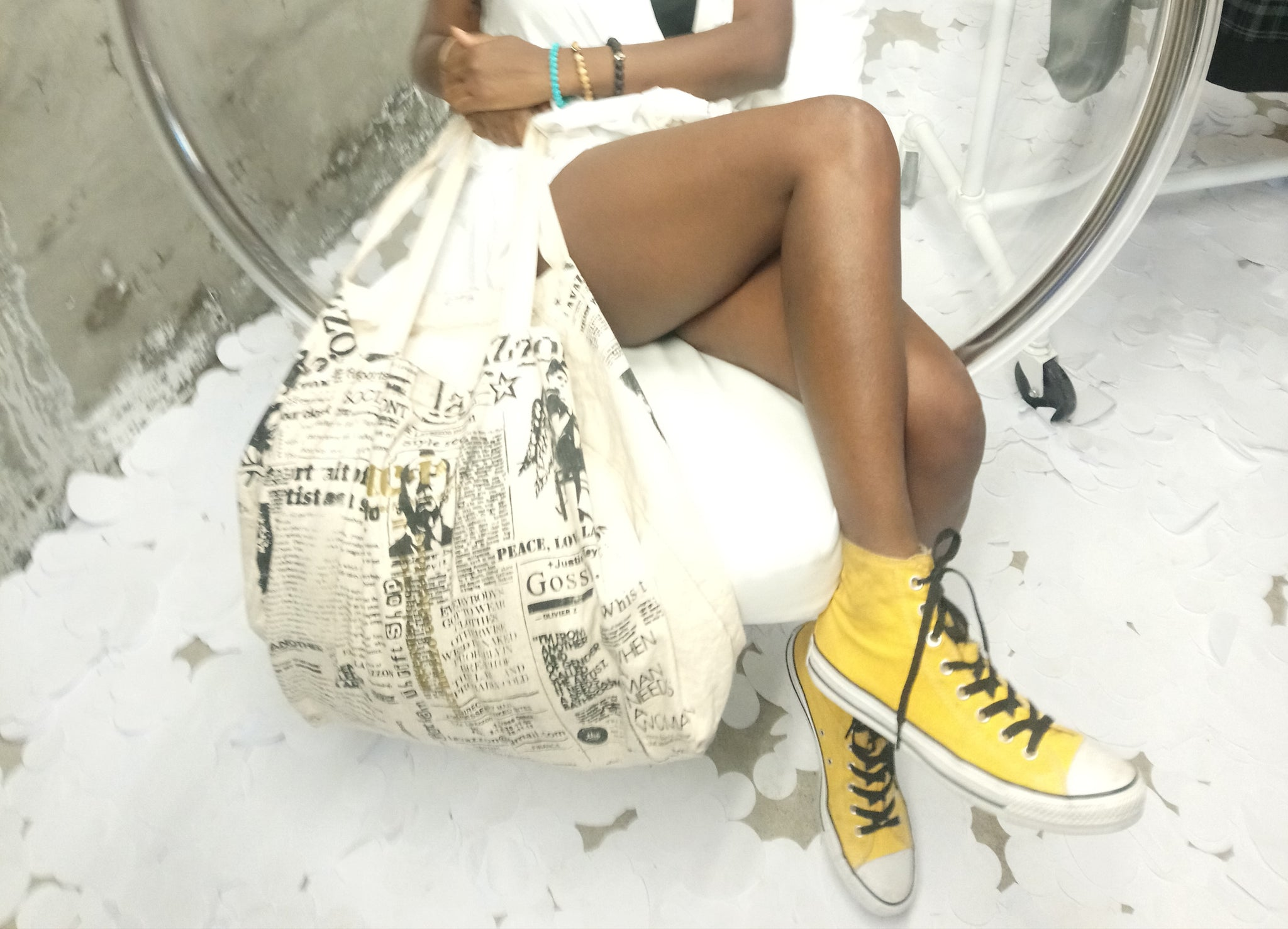 Newspaper Canvas Bag