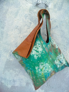 Hand Painted  Shoulder Tote