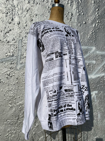 Oversize  newsprint sweatshirt