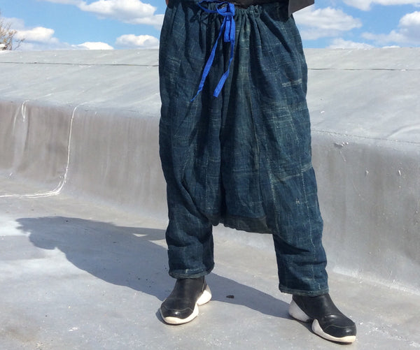 Indigo Harem low crotch summer pants... Feel Free