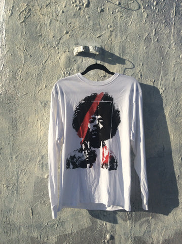 Long sleeve  cotton Hendrix T-shirt.. wear your Art