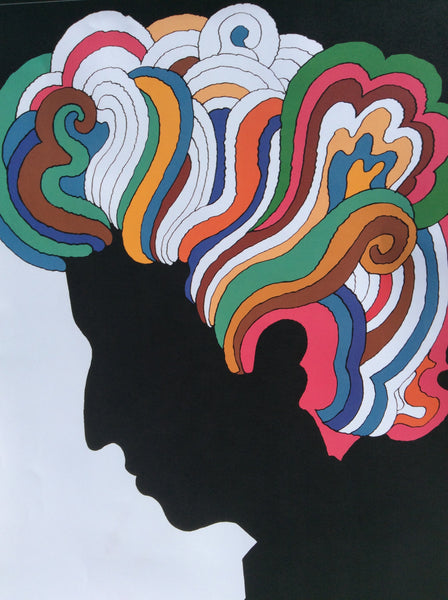 Dylan ... Original Vintage poster by Milton Glaser 1967 4-color  offset lithography size 32 x23