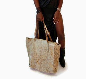 Go Bag....end of the year sale ... hair on hide bag