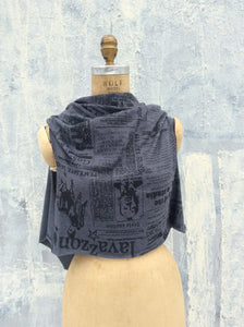Lavazzon Newsprint scarf Dress