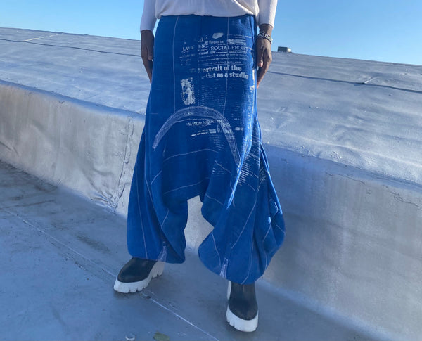 Duo indigo  pants