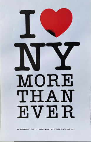 2001 I love NY More than ever by Milton Glaser