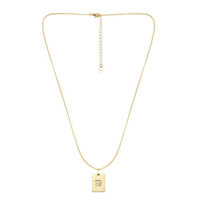 Avenue Letter Necklace 'D'
