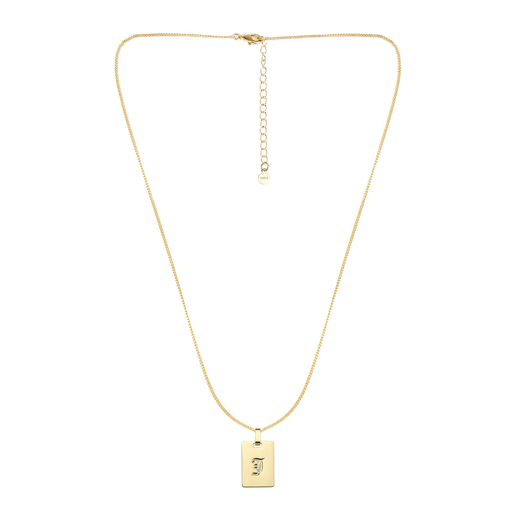 Avenue Letter Necklace 'J'