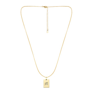 Avenue Letter Necklace 'M'