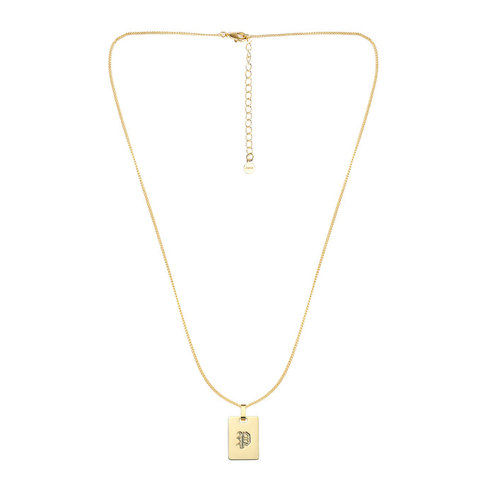 Avenue Letter Necklace 'P'