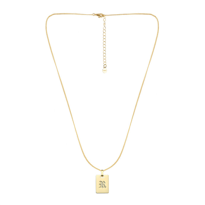 Avenue Letter Necklace 'R'