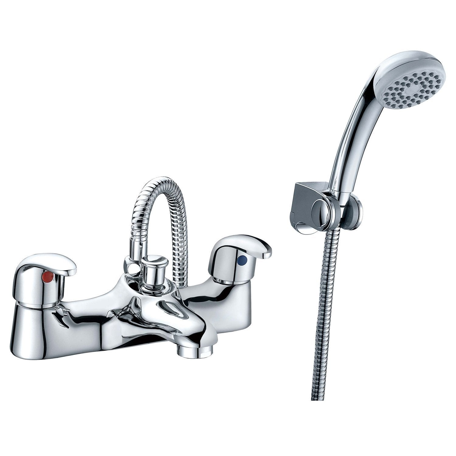 RAK Basic Bath Shower Mixer with Shower Head and Hose - Chrome
