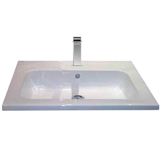 RAK Lola Over Mounted Wash Basin 612mm Wide 1 Tap Hole