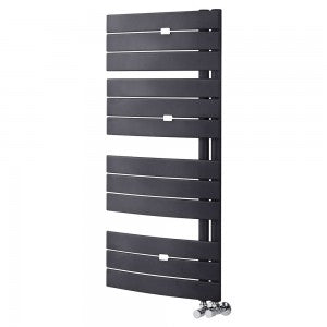 Essential ARIES Towel Warmer, Flat Panels, 1080mm High x 550mm Wide, Anthracite