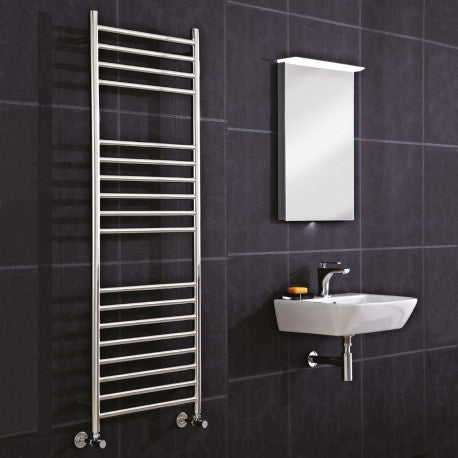 CLEARANCE Phoenix Athena Stainless Steel Straight Towel Rail 1200mm High x 350mm Wide