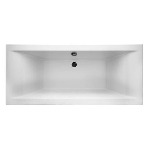 Cassellie Lime Square Style Double Ended Bath - 1700mm x 750mm - White