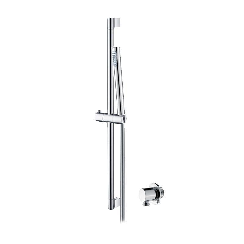 Abacus Emotion Slimline Shower Rail Kit With Round Wall Outlet