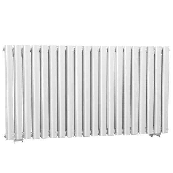 Cassellie Celsius Double Panel Designer Horizontal Radiator - 633mm High x 1180mm Wide - White