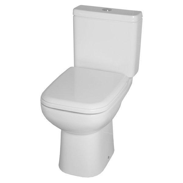 RAK Origin 62 Close Coupled Toilet with Push Button Cistern - Soft Close Seat