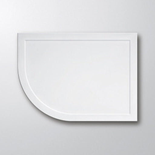 Lakes Low Profile Offset Quadrant Shower Tray - 900mm x 760mm - White - Left Handed