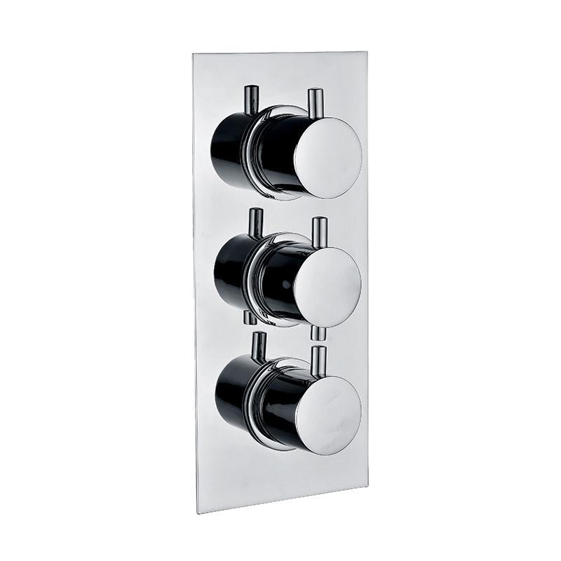 Abacus Essentials Triple Outlet Thermostatic Shower Valve ATTB-TS10-2344