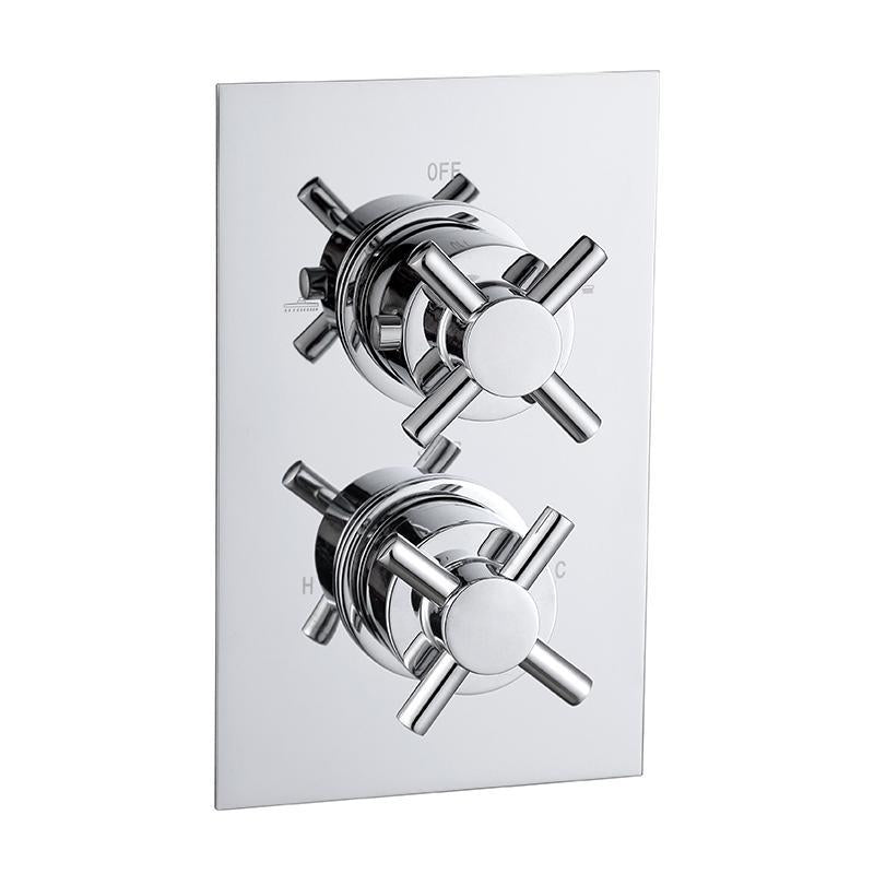 Abacus Emotion Cross Thermo Shower Mixer (2 Outlet)
