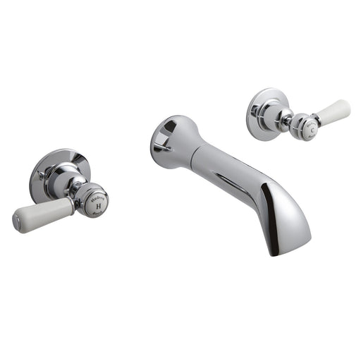 CLEARANCE Hudson Reed Topaz Lever Bath Filler Tap, Wall Mounted, Chrome