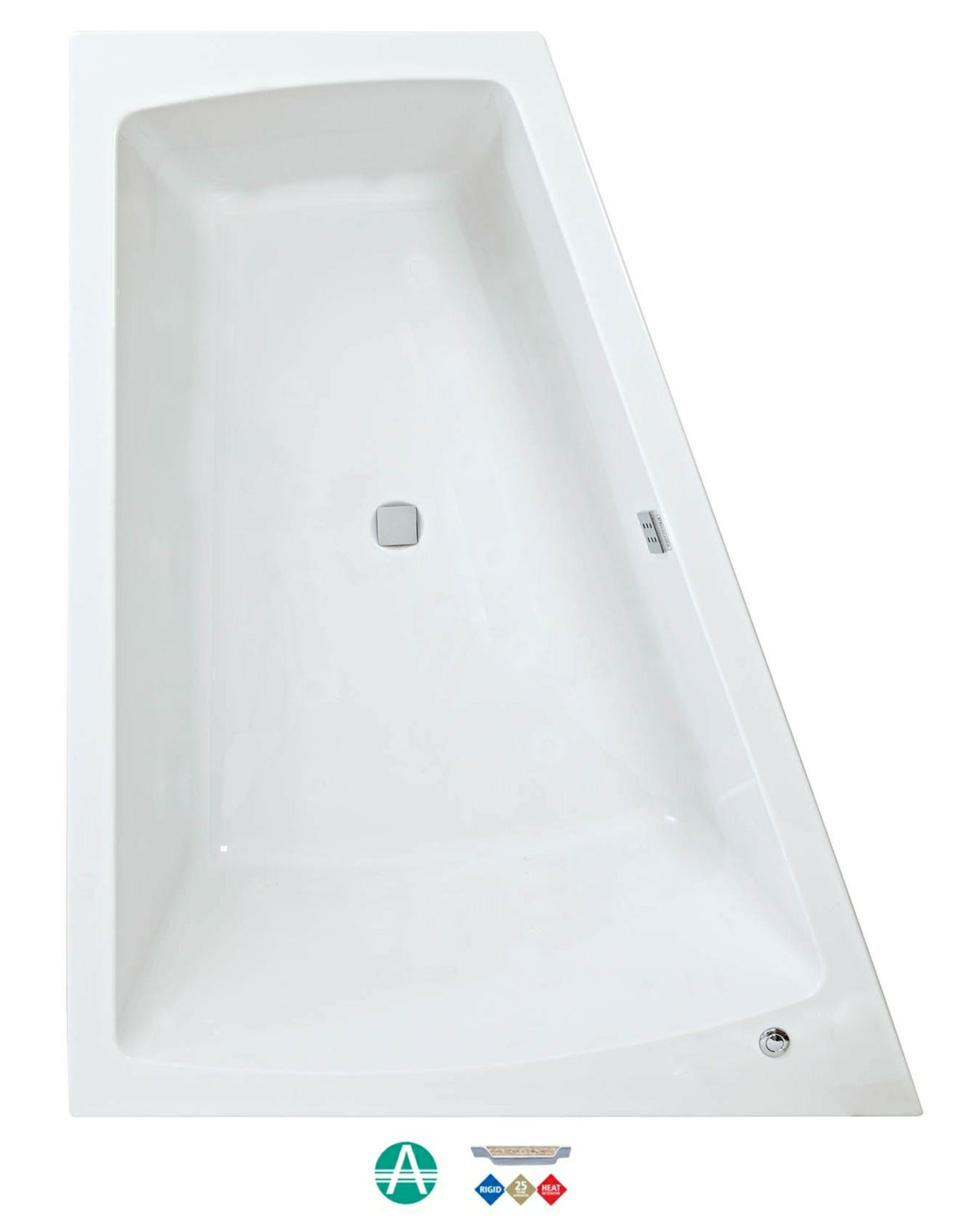 Phoenix Figura Amazonite - Double Ended Bath With Optional Whirlpool System - 1700mm x 1300mm(700mm)