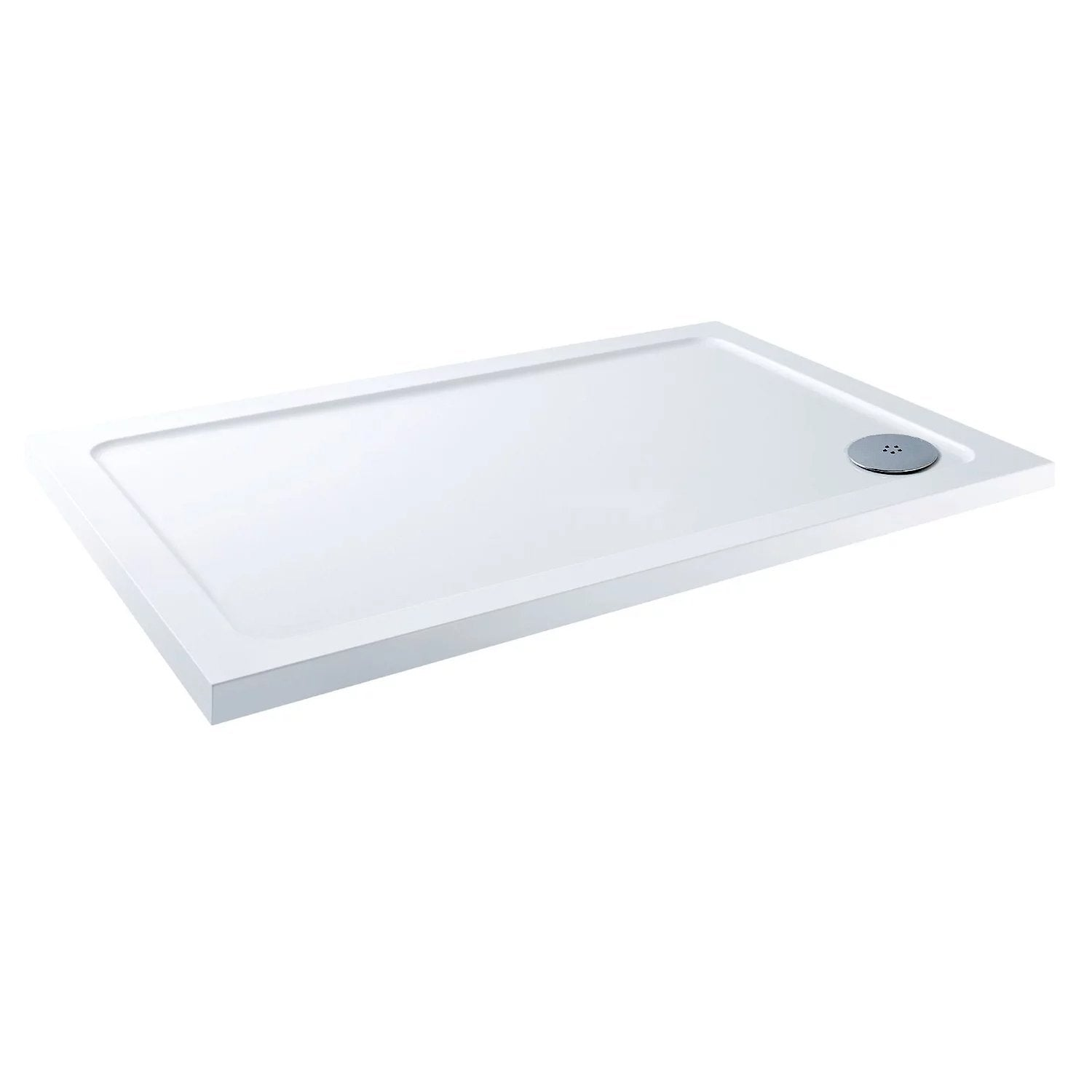 Cassellie C-Series Rectangular Shower Tray with Fast Flow Waste - 900mm x 760mm - Stone Resin