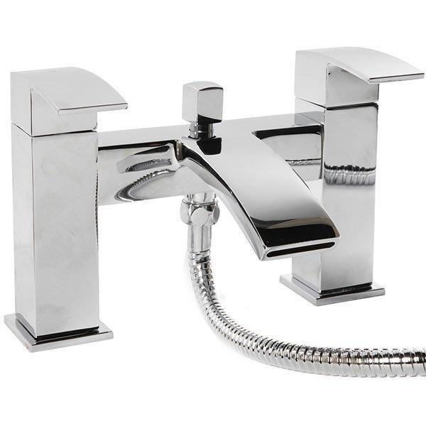 Cassellie Peak Bath Shower Mixer Tap - Chrome