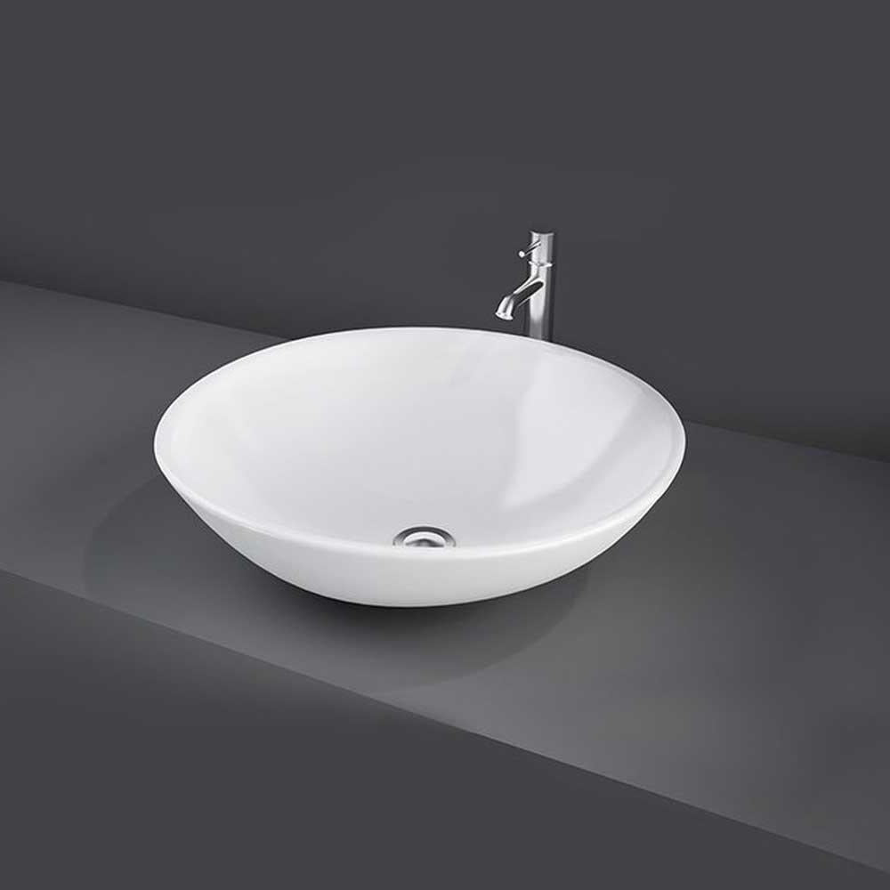 RAK Diana Sit-On Countertop Basin 455mm Wide - 0 Tap Hole