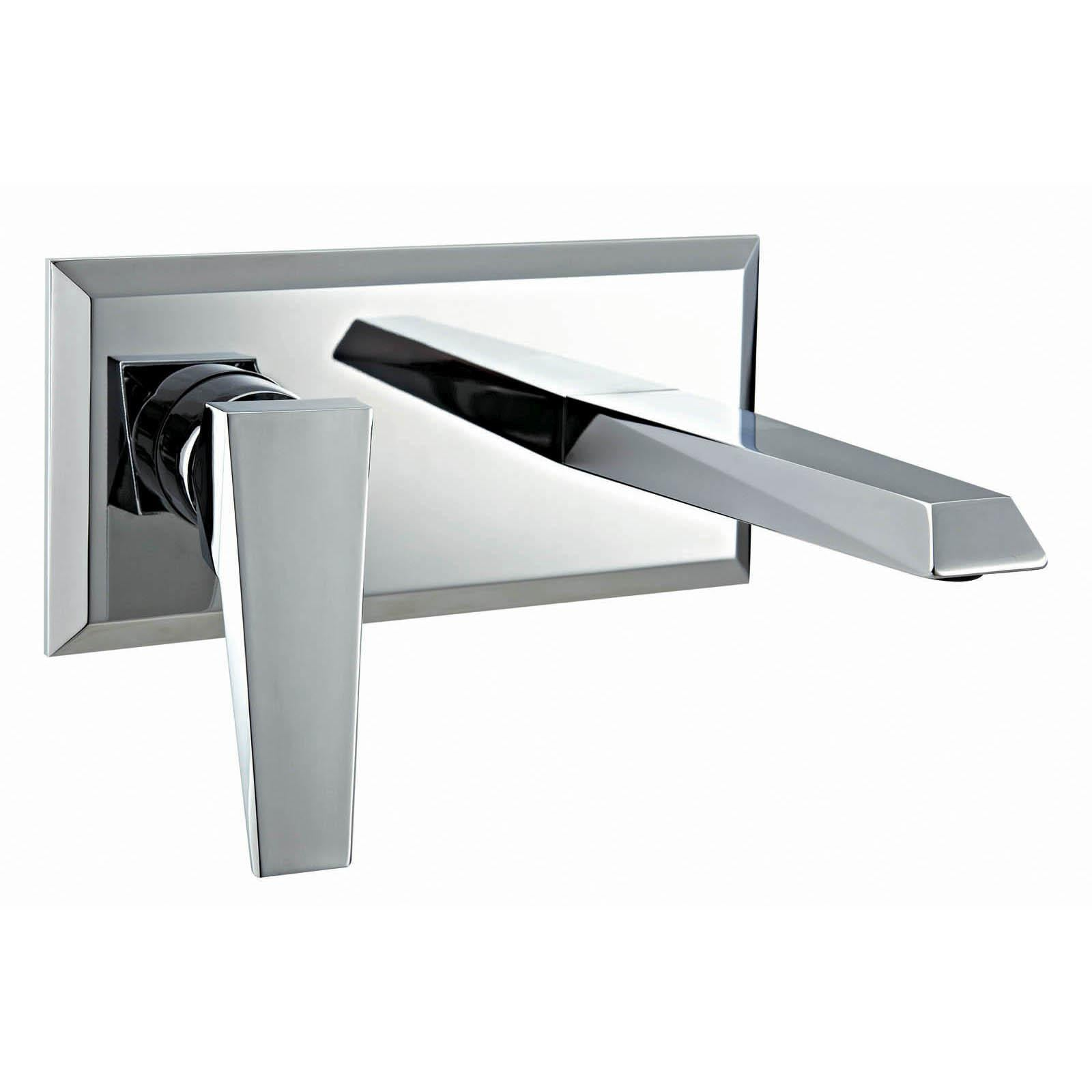 CLEARANCE Flush Wall Mounted Single Lever Basin Mixer